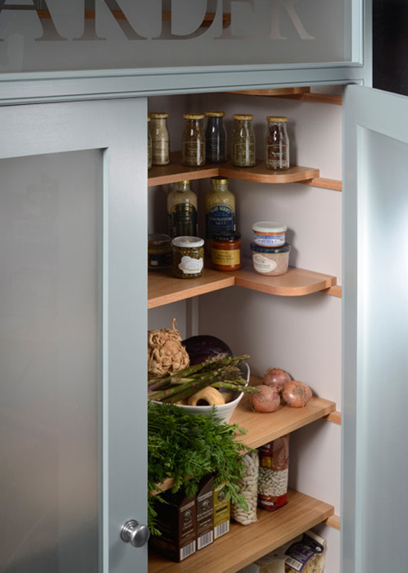 Larder Cupboard - practical shelving options